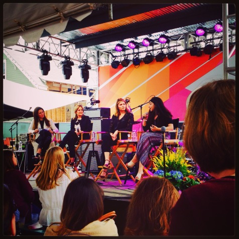 """I enjoyed the discussions during Neiman Marcus' """"Make Some Noise"""" event during SXSW 2015 on Rainey Street. Shown are Jenna Bush Hager, Dyllan McGee, Shiza Shahid, and Katherine Keating. Follow the link below for more information."""