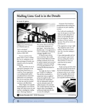 Thanks to the National Catholic Development Conference (NCDC) for including my article about mailing lists in its October-November 2015 issue of the membership newsletter, Dimensions.