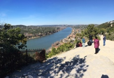 Mount Bonnell, Austin in Winter