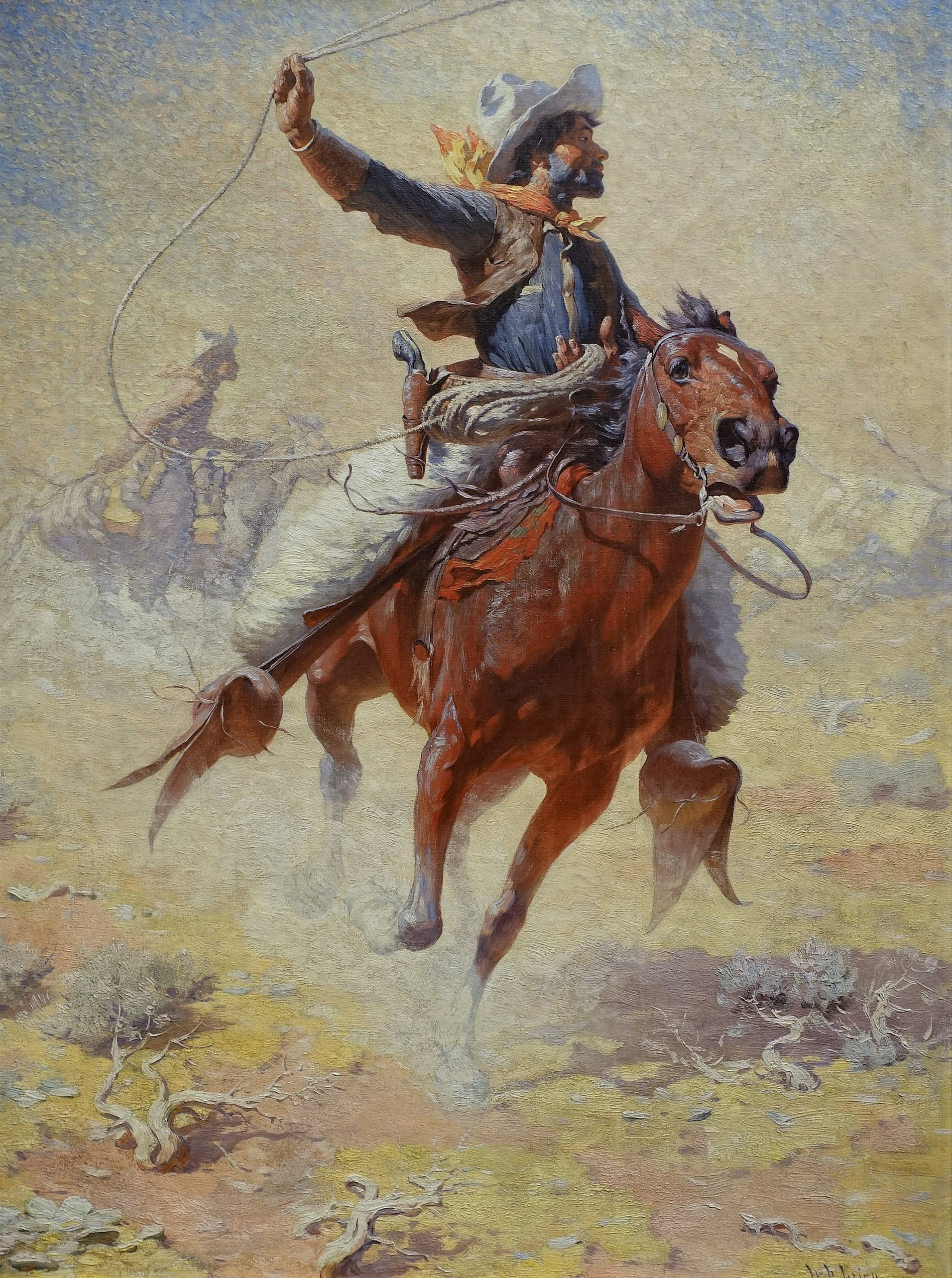 "William Robinson Leigh, ""The Roping"""