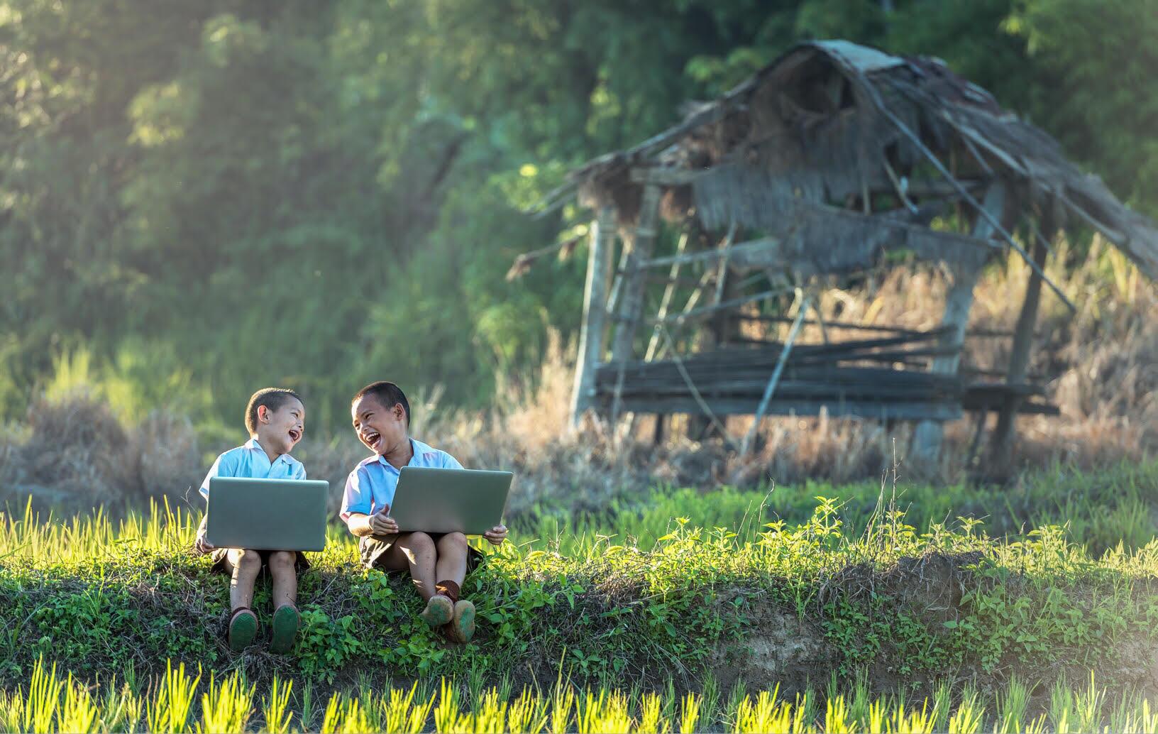 children nature laptops
