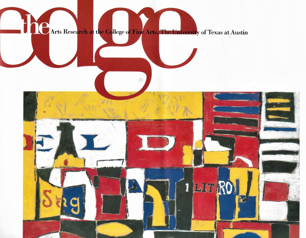 Edge Journal Vol I No. 1 1991 (partial scan of the cover).